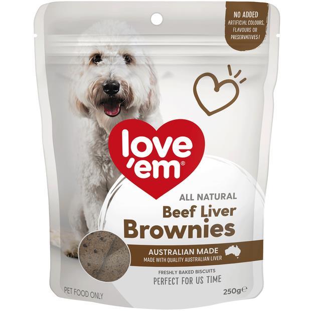 Love Em Beef Liver Brownie 250g Pet: Dog Category: Dog Supplies  Size: 0.3kg  Rich Description: Show...