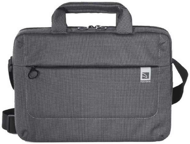 This TUCANO laptop case has a 16-inch capacity, allowing you to transport your computer and...