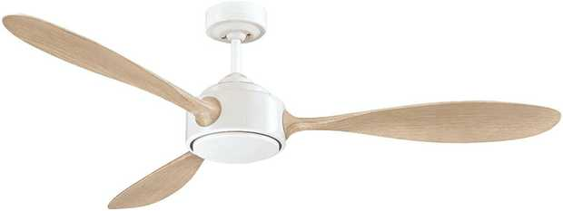 Take the heat out of a room with this Mercator ceiling fan's 3 speed settings. It has a white finish...