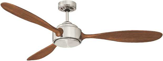 Cool down in a warm room with this Mercator ceiling fan's 3 speed settings. Its brushed chrome finish...