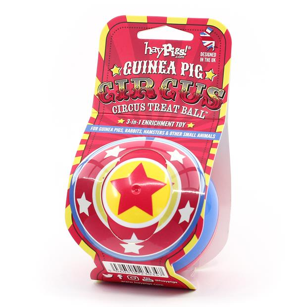 Haypigs Circus 3 In 1 Treat Ball Each Pet: Small Pet Category: Small Animal Supplies  Size: 0.1kg  Rich...