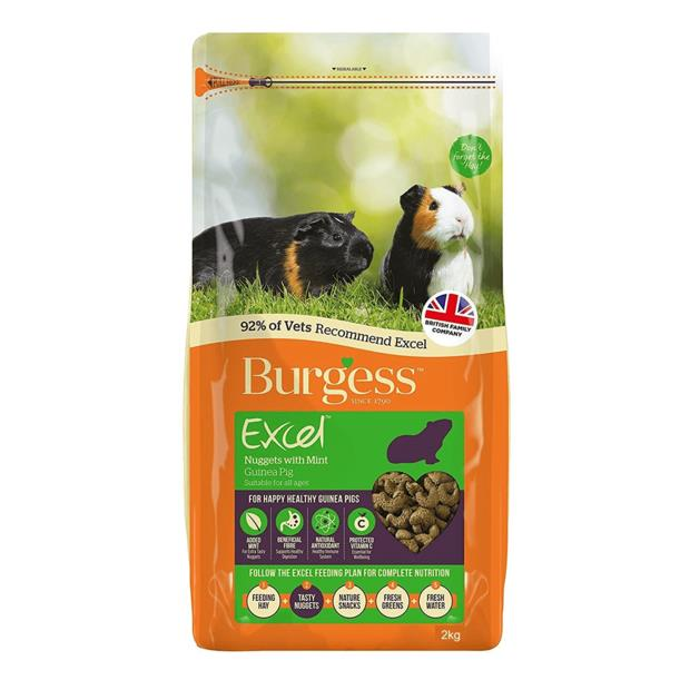 Burgess Excel Guinea Pig Nuggets Mint 4kg Pet: Small Pet Category: Small Animal Supplies  Size: 4kg...