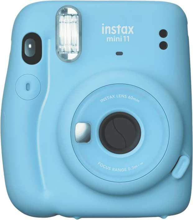 The Instax Mini11 is an instant portable camera. It features a high performance flash which...
