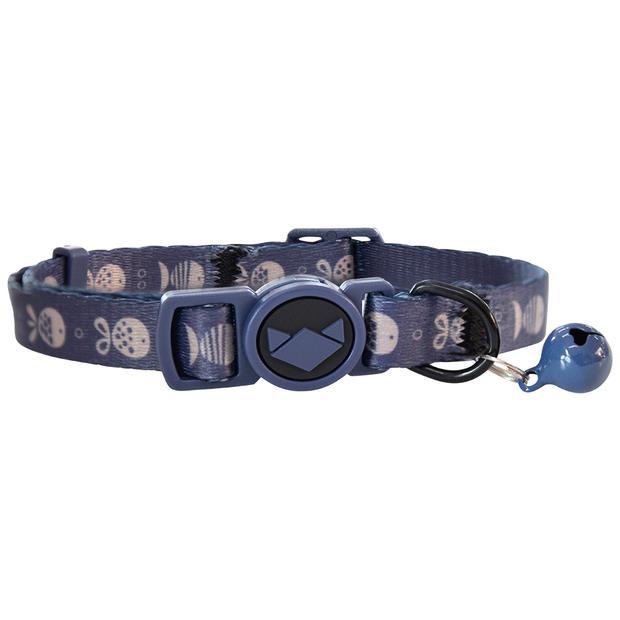 La Doggie Vita Cat Collar Go Fish Indigo Each Pet: Cat Category: Cat Supplies  Size: 0kg Colour: Blue...