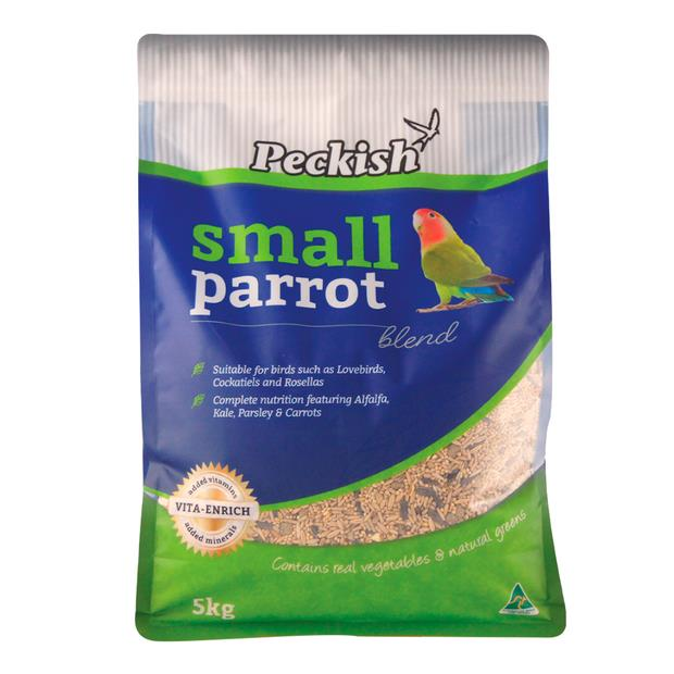 Peckish Small Parrot Blend 5kg Pet: Bird Category: Bird Supplies  Size: 5.2kg  Rich Description: Made...