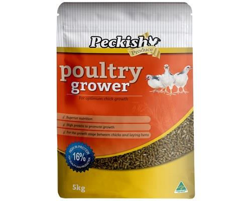 PECKISH POULTRY GROWER 5KGHigh in protein and packed with essential vitamins and minerals to promote...