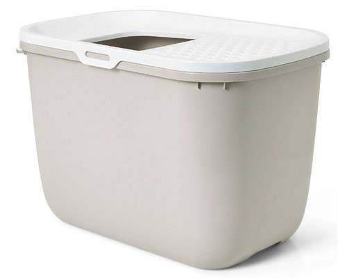 SAVIC HOP IN CAT LITTER BOX WHITE/MOCHAIt doesn't get any more minimalist or modern than this.