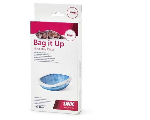 SAVIC BAG IT UP LARGE (12 PACK)Bag It Up is your one stop to a clean and hygenic kitty litter. With...