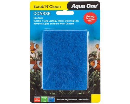 AQUA ONE SCRUB N CLEAN ALGAE PAD COARSE SMALLKeep your aquarium tidy by using the Aqua One Scrub N...