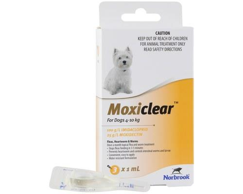 MOXICLEAR FOR DOGS 4-10KG 3 PACKMoxiclear for dogs that are 4-10kg is designed to be an all-rounder...