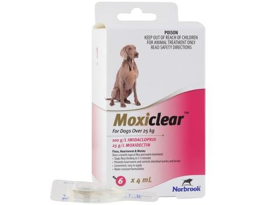MOXICLEAR FOR DOGS OVER 25KG 6 PACKMoxiclear for dogs over 25kg is designed to be an all-rounder...