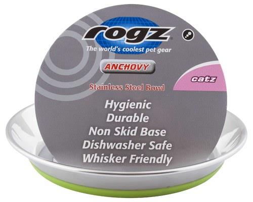 ROGZ CAT BOWL ANCHOVY STAINLESS STEEL LIMEFinally, a whisker-friendly bowl for your cat. Rogz...