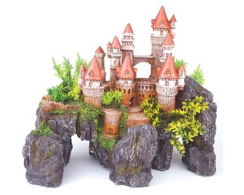 KAZOO MOUNTAIN CASTLE W/PLANTS LARGE'The castle glitters like a gem upon the horizon, clinging...