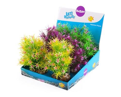 KAZOO PLASTIC PLANTS - PINE LEAF W/FLOWER ASSORTEDWho doesn't love a bit of gardening?Your fish may not...