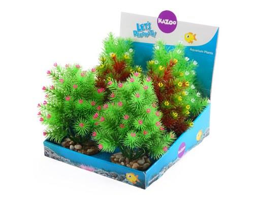 KAZOO PLASTIC PLANTS - SMALL LEAF ASSORTEDYour fish don't need to have a green thumb (or any thumbs at...