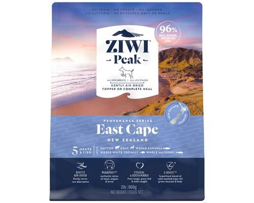 ZIWIPEAK PROVENANCE EAST CAPE DOG FOOD 900GEvery morning the sun rises on the East Cape of New Zealand.