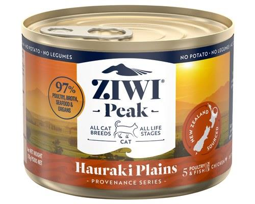 ZIWIPEAK PROVENANCE CAT CANNED HAURAKI PLAINS 12X170GInspired by, and sourced from the gorgeous Hauraki...