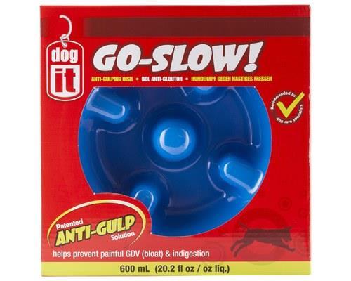 Dogit Go-Slow! Anti-Gulping Dog Bowl, BlueSize:27cm across x 9.5cm H, 600mlThe Dogit Go-Slow! dog...