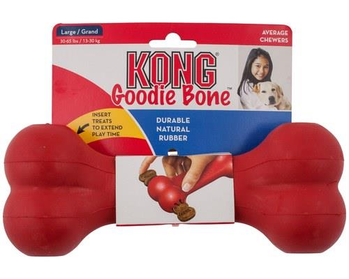 KONG GOODIE BONE LARGEThe KONG Goodie Bone toy engages dogs that delight in chew sessions.