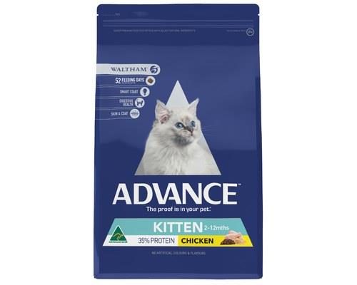Advance Chicken Kitten Plus Cat Food, 3kgAdvance kitten plus dry food includes a blend of ingredients...