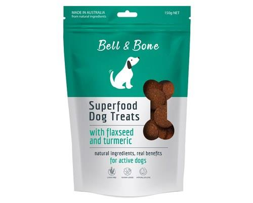 BELL AND BONE SUPERFOOD DOG TREATS WITH FLAXSEED AND TURMERIC 150GBell and Bone are all about treating...