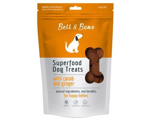 BELL AND BONE SUPERFOOD DOG TREATS WITH CAROB AND GINGER 150GBell and Bone are all about treating dogs...