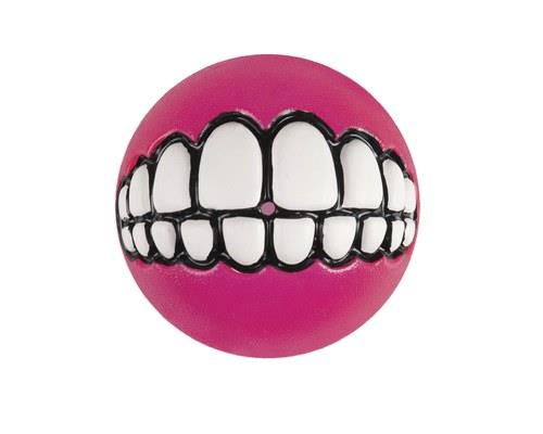 Rogz Grinz Smiling Teeth Ball Dog Toy, Medium, PinkSize: 6.4cm recommended for medium dogsRogz...