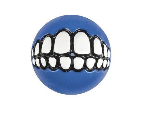 Rogz Grinz Smiling Teeth Ball Dog Toy, Large, BlueSize:7.8cm recommended for large dogsRogz...