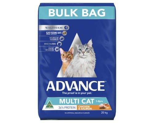ADVANCE CAT MULTI CAT CHICKEN & SALMON 20KGADVANCE™ Adult Multi Cat Dry Cat Food is a super...