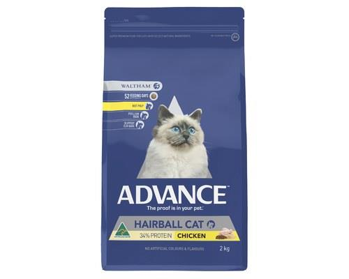 ADVANCE CAT HAIRBALL 2KGADVANCE™ Adult Hairball Cat Dry Cat Food is a super premium food for...