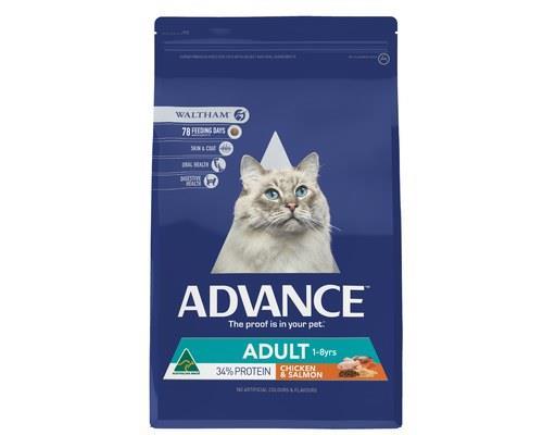 ADVANCE CAT ADULT CHICKEN & SALMON 3KGADVANCE™Adult Cat Dry Cat Food is a super premium...