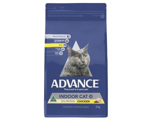 ADVANCE CAT INDOOR CHICKEN 2KGADVANCE™ Adult Indoor Cat Dry Cat Food is a super premium food for...
