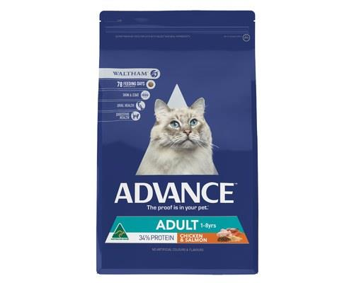 ADVANCE CAT ADULT CHICKEN & SALMON 6KGADVANCE™ Adult Cat Dry Cat Food is a super premium...