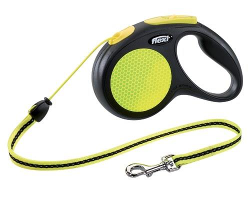 FLEXI NEON CORD MED 5MIdeal for night time or early morning walkies, this high-vis Flexi Neon lead is...