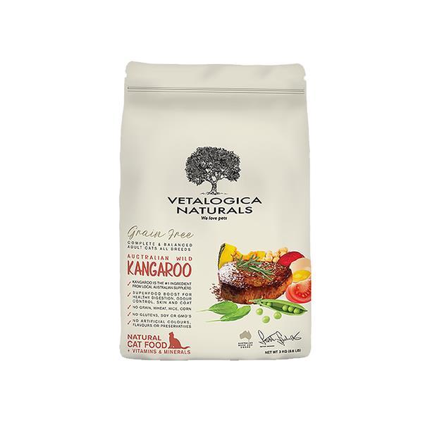 Vetalogica Naturals Grain Free Dry Cat Food Adult Kangaroo 3kg Pet: Cat Category: Cat Supplies  Size:...