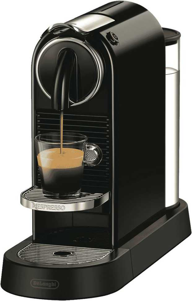 Get your morning caffeine hit in seconds thanks to the Nespresso DeLonghi Citiz Solo Capsule Machine...