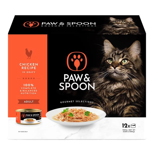 Paw And Spoon Chicken Wet Cat Food 12 X 85g Pet: Cat Category: Cat Supplies  Size: 1.2kg  Rich...