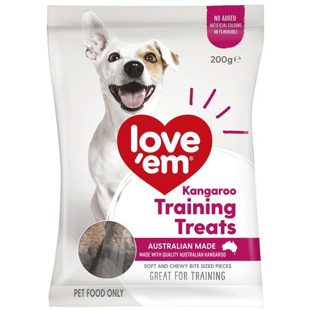 Love Em Kangaroo Mini Treats 200g Pet: Dog Category: Dog Supplies  Size: 0.6kg  Rich Description: Show...