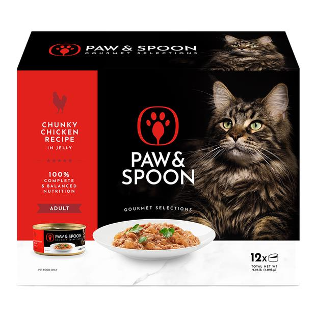 Paw And Spoon Chunky Chicken Wet Cat Food 5 X 12 X 85g Pet: Cat Category: Cat Supplies  Size: 6.2kg...