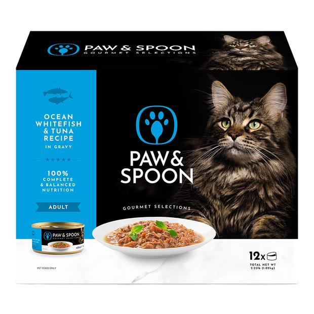 Paw And Spoon Ocean Whitefish And Tuna Wet Cat Food 5 X 12 X 85g Pet: Cat Category: Cat Supplies  Size:...