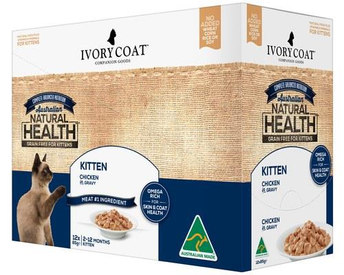 Ivory Coat Kitten Chicken in Gravy 12 x 85GWith a wet food specifically formulated to get your kitten...