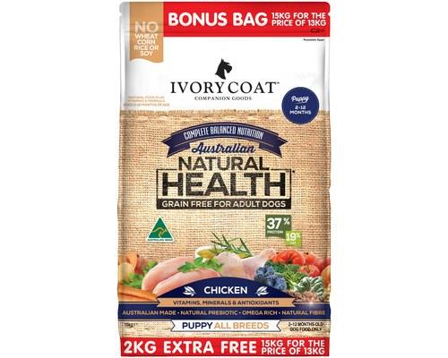 IVORY COAT GRAIN FREE PUPPY CHICKEN 15KG (13KG + 2KG EXTRA FREE)If you plan on feeding your dog natural...