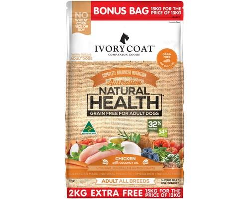 IVORY COAT ADULT CHICKEN AND COCONUT OIL 15KG (13KG + 2KG EXTRA FREE)If you're looking for a dog food...