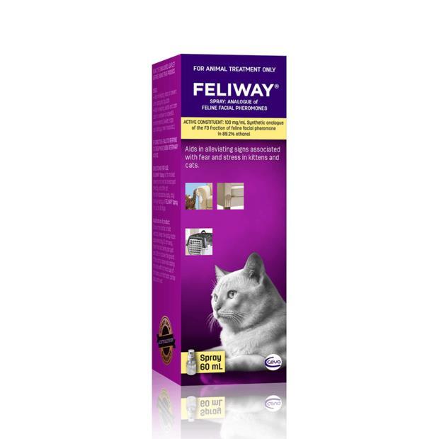 Feliway Spray 2 X 60ml Pet: Cat Category: Cat Supplies  Size: 0.2kg  Rich Description: Feliway spray...