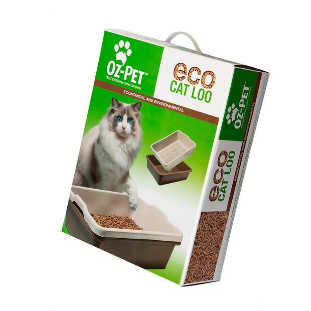 Oz Pet ECO Loo Kit Pet: Cat Category: Cat Supplies  Size: 1.2kg Material: Wood  Rich Description: The...
