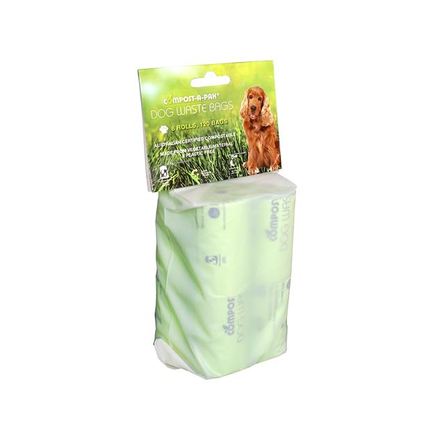 Compost A Pak Dog Waste Bags 8 Pack Pet: Dog Category: Dog Supplies  Size: 0.3kg Colour: Green  Rich...