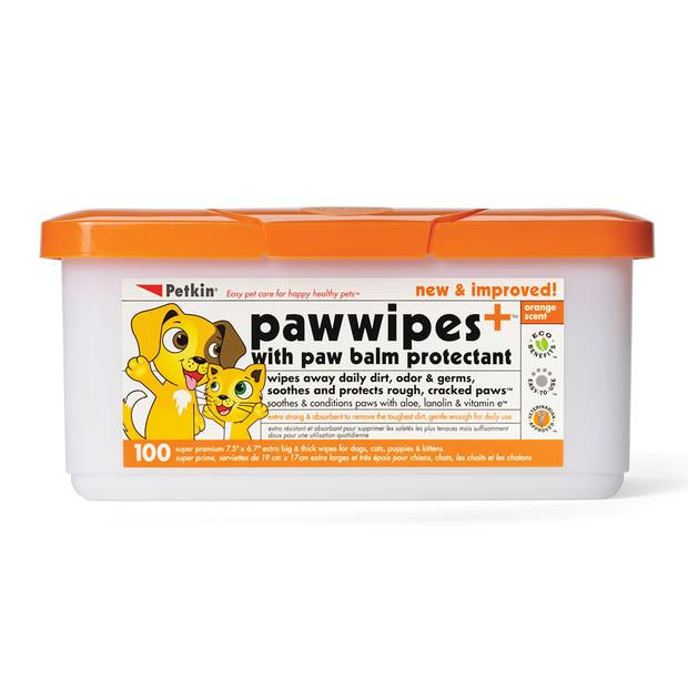 Petkin Paw Wipes 100 Pack Pet: Dog Category: Dog Supplies  Size: 0.6kg  Rich Description: These...