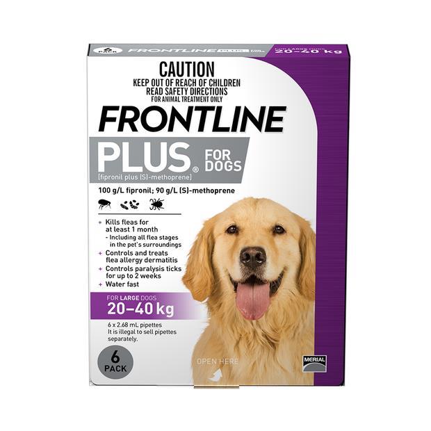 Frontline Plus Large Dog Purple 6 Pack Pet: Dog Category: Dog Supplies  Size: 0.2kg  Rich Description:...