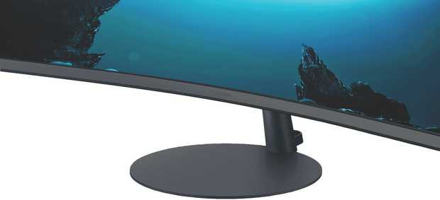 This Samsung monitor has a 32-inch screen, allowing you to enjoy a lush panoramic viewing area. Feast...