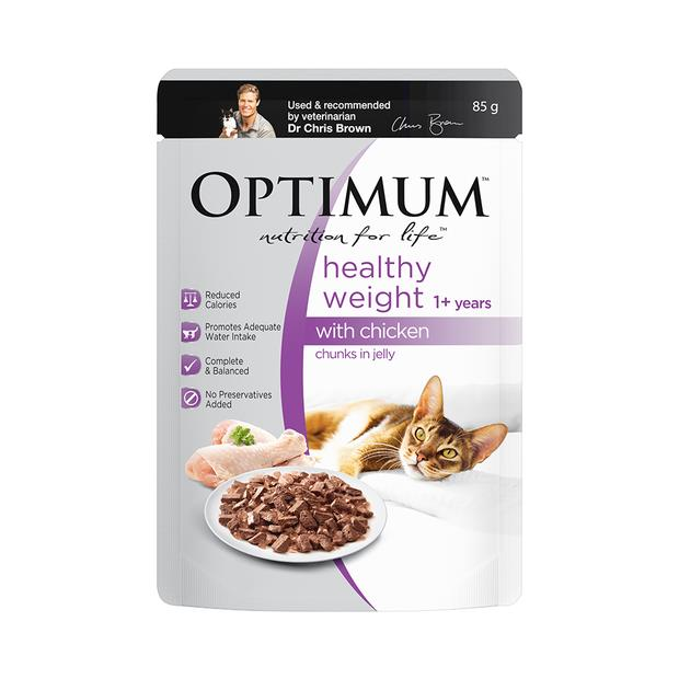Optimum Healthy Weight Wet Cat Food Chicken In Jelly Pouch 30 X 85g Pet: Cat Category: Cat Supplies ...